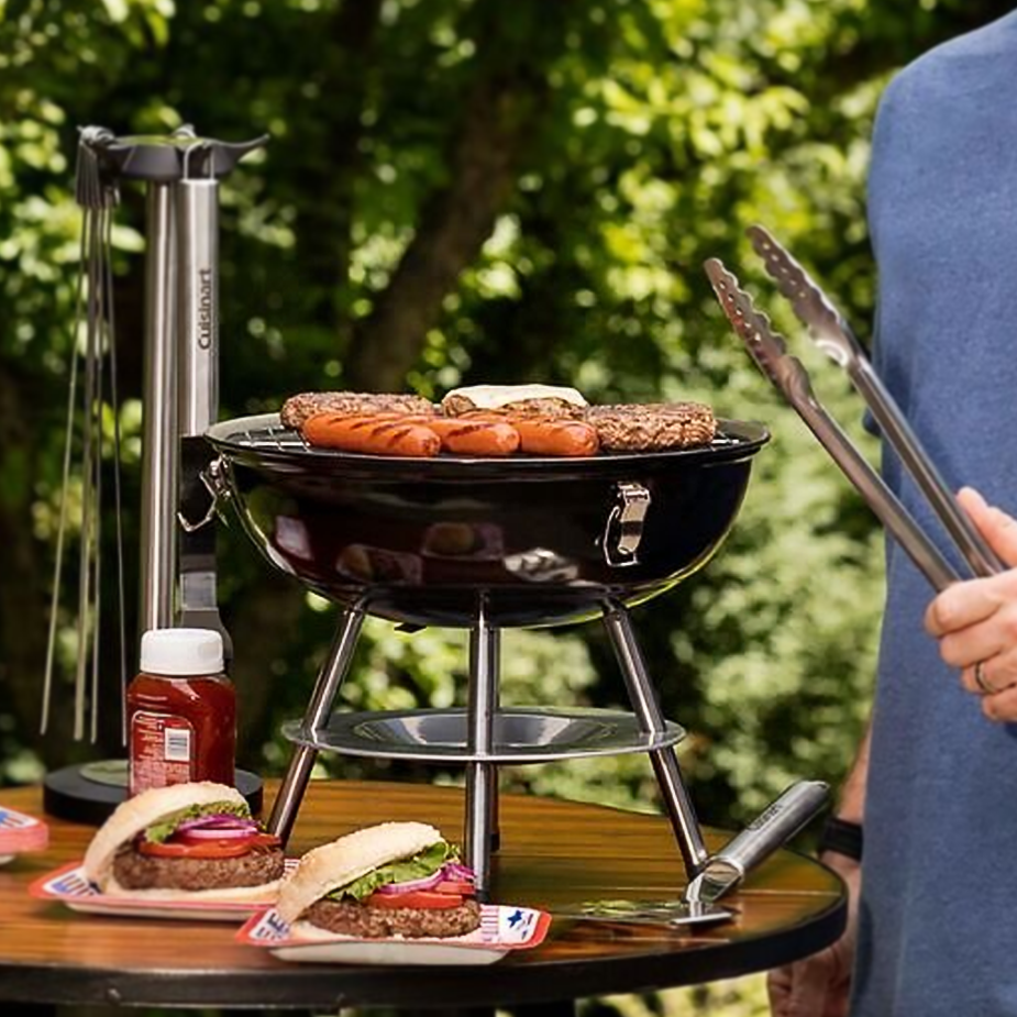 amazon com cuisinart ccg 190rb portable charcoal grill 14 inch
