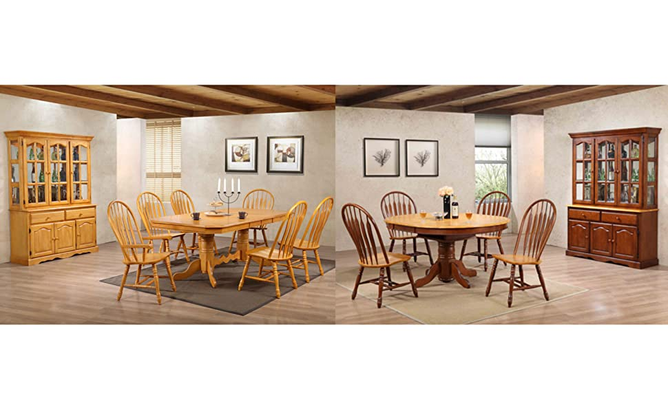 traditional,country,dining,solid wood,oak,extension tables,spindle back chair
