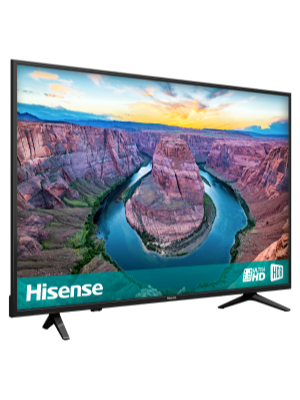 Hisense H43AE6100UK 43-Inch 4K Ultra HD HDR Smart TV with Freeview Play -  Black (2018)
