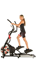 Fitness Reality X-Class 710 Bluetooth Smart Technology Elliptical Trainer with Flywheel Turbo Drive ...