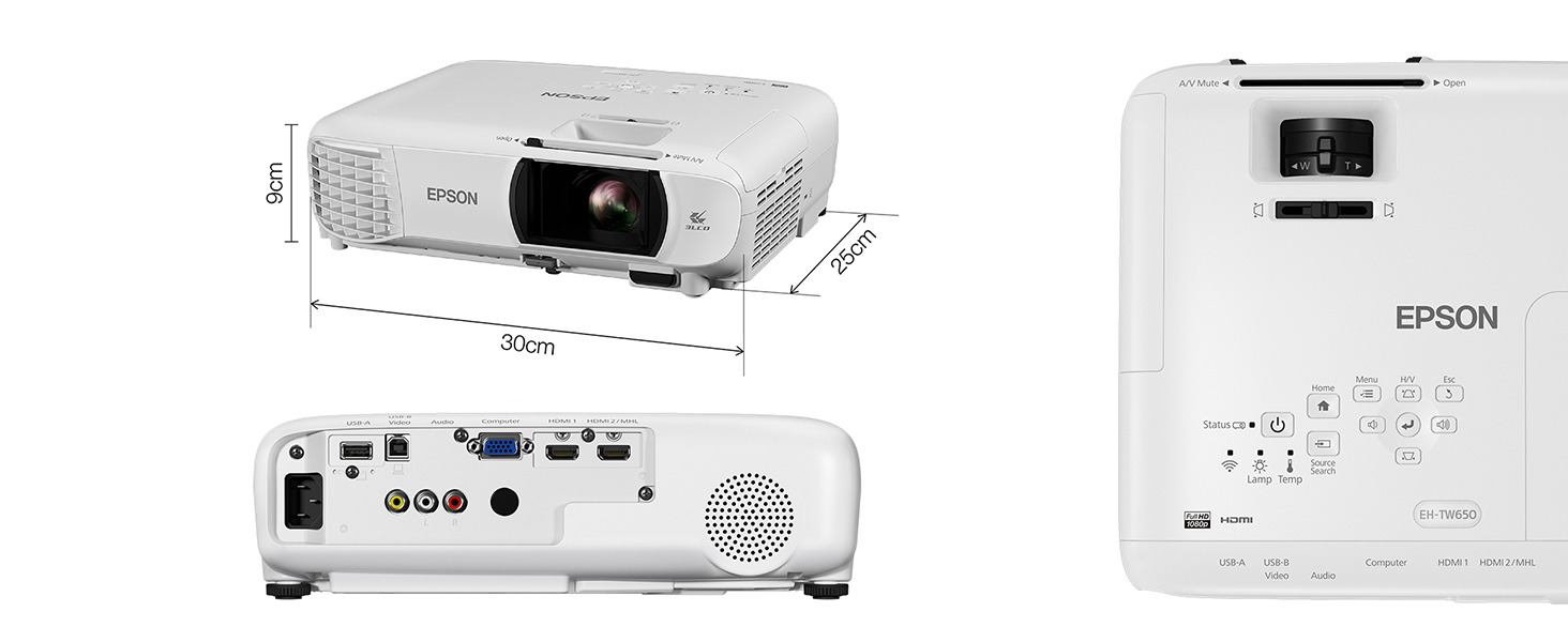 EPSON, EH-TW650, PROJECTION, PROJECTOR, HOME CINEMA,GAMING, SMALL OFFICE, BUSINESS,