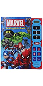 Marvel - Talking Quiz Book - 200+ Interactive Questions and Answers