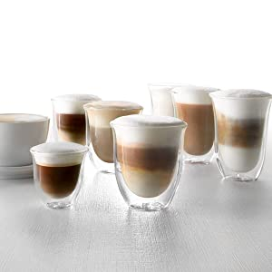 milk froth; cappuccino; flat white; coffee cups; coffee glasses