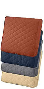Montlake FadeSafe Quilted Chair Back Cushion