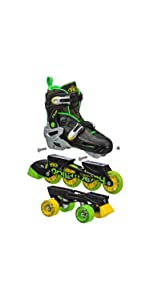 ... Flux quad and inline combo skates ...