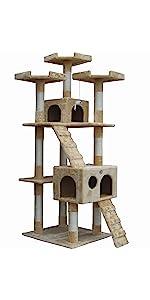 go pet club f2080 cat tree condo furniture