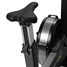 Easily adjustable seat height and handlebar positions provide a customized fit