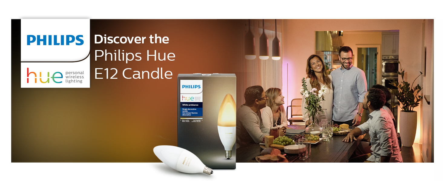 Philips;Hue;Candle;E12;LED;smart lighting;smart home;app controlled;white ambiance;lamps;
