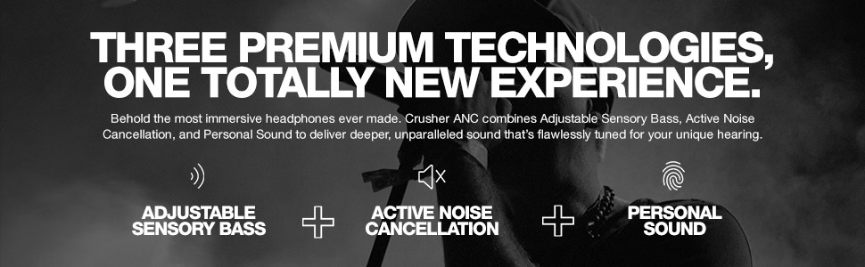 Crusher ANC Personalized Noise Canceling Wireless Headphones Technologies
