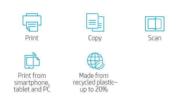 image keywords: print copy scan mobile printing recycled plastic