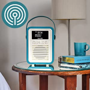 89bc4437b62 VQ Portable Retro Mini DAB and DAB+ Digital Radio with FM, Bluetooth ...