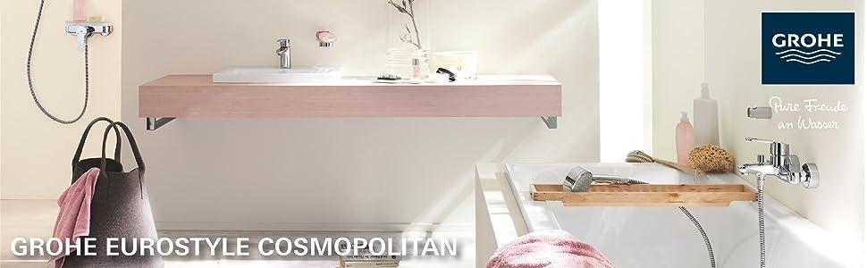 Grohe Eurostyle Cosmopolitan Badarmatur Waschtischarmatur Mit