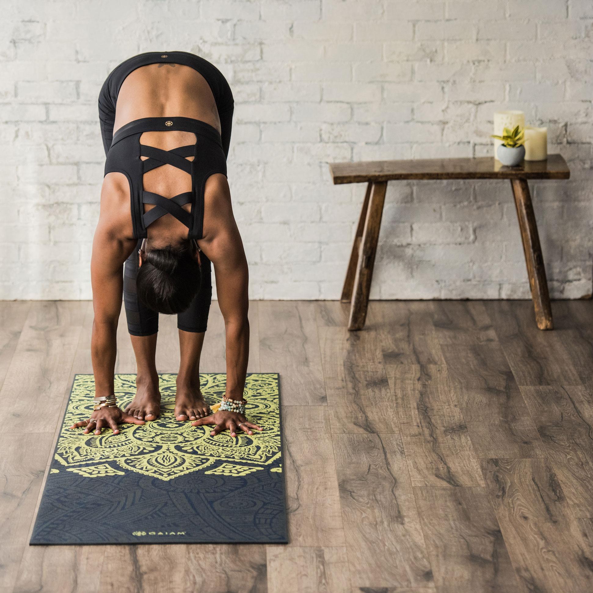 Amazon.com : Gaiam Print Premium Yoga Mats : Sports & Outdoors