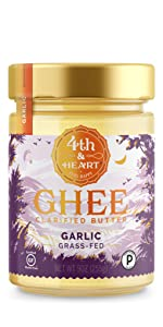 fourth and heart 4th california garlic ghee clarified butter grass fed lactose free keto