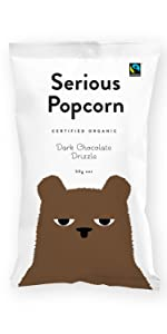 serious popcorn, healthy, snacks, organic, new zealand, popcorn, dark chocolate, chocolate