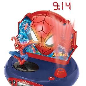 Spider Man - Radio Despertador con proyección de la Hora (Lexibook ...