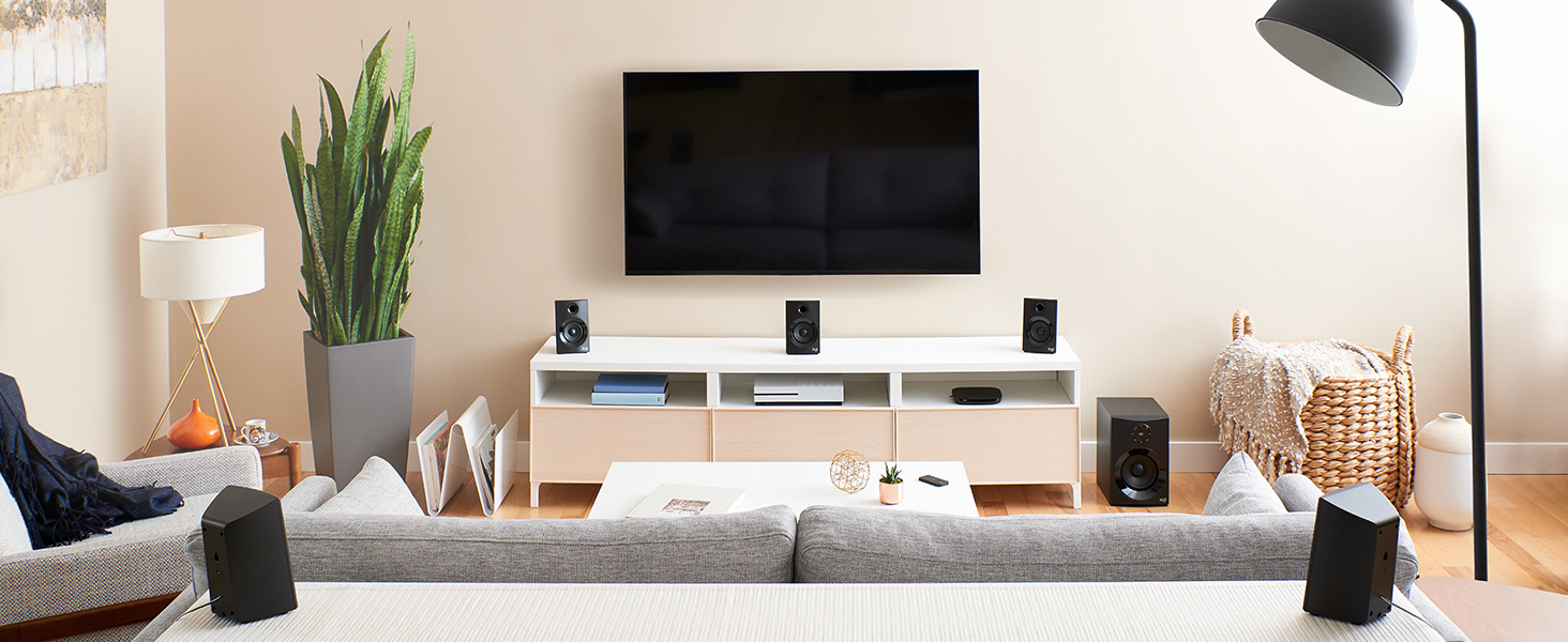 Amazon Com Z606 5 1 Surround Sound Speaker System With Bluetooth Home Audio Theater