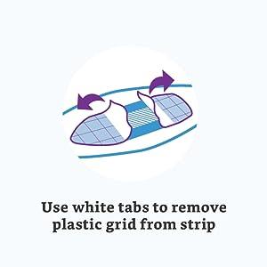 white tabs