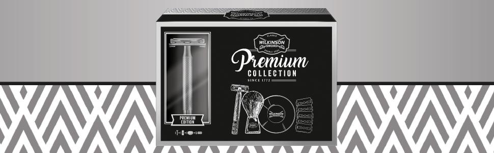 Wilkinson Sword Kit de afeitado Clásico manual - Set regalo para hombres con maquinilla vintage + 5 cuchillas de doble hoja + Brocha de afeitar + jabón de afeitado: Amazon.es: Salud y cuidado personal