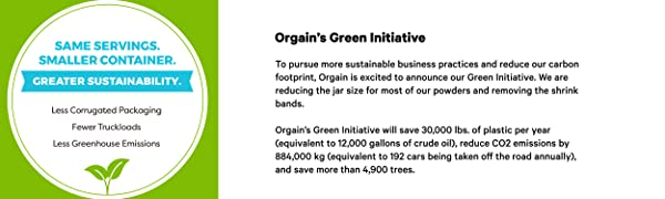 Green initiative, sustainable packaging