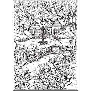 Amazon Com Creative Haven Country Gardens Coloring Book Creative Haven Coloring Books 0800759840458 Goodridge Teresa Books