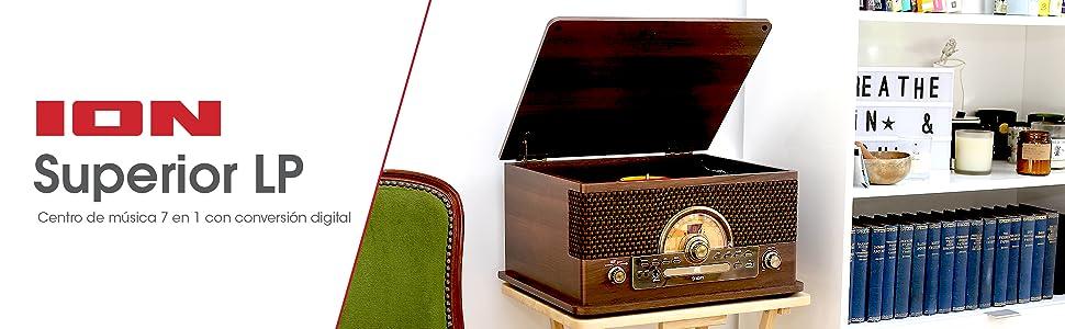 ION Audio Superior LP - Centro de Entretenimiento 7-en-1 con de ...