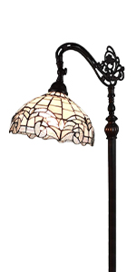 Tiffany Style Floor Lamp Stained Glass Antique Vintage Light Decor Bed Living