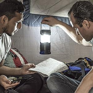 2 PC. SE FL804-12COB-2 180 Lumen COB LED Camping Lantern