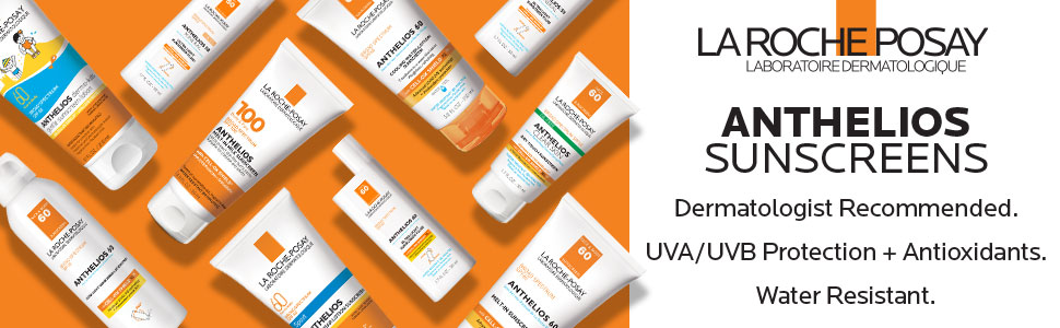 anthelios sunscreens la roche posay dermatologist recommended uva uvb broad spectrum protection