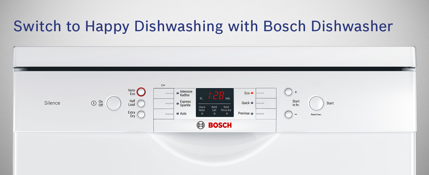 Switch to Happy Dishwashing with Bosch Dishwasher