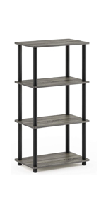 Furinno 14032EX//BK Turn-N-Tube Accent Decorative Shelf Espresso//Black