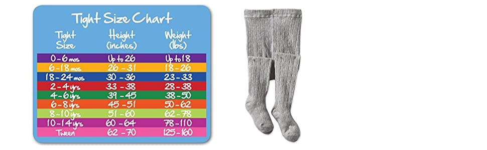 Jefferies Socks, girls, cotton, cable, tight, sizes