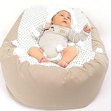 pucksack baby, baby nestchen, sitzsack kinder,