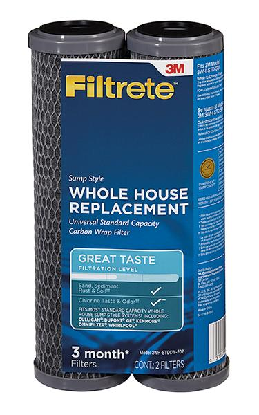 Sump Style Sediment, Carbon Wrap Replacement Filter Filtrete Standard Capacity