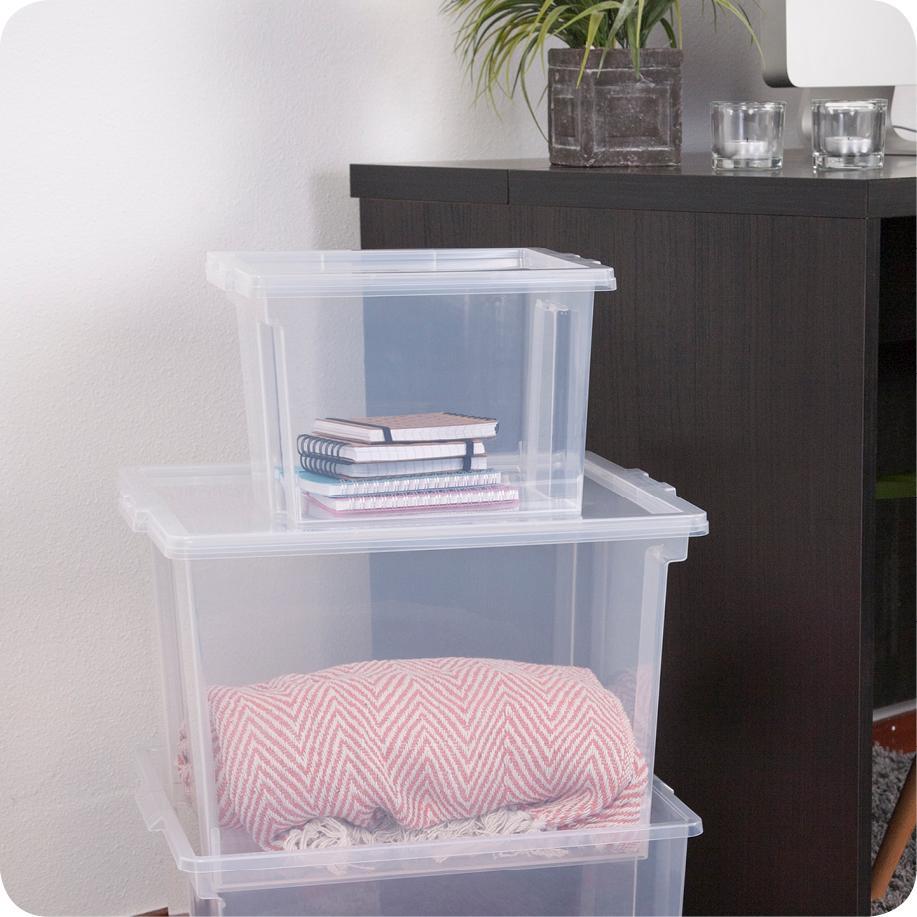 IRIS 130623, 6er-Set Aufbewahrungsboxen / Kisten mit
