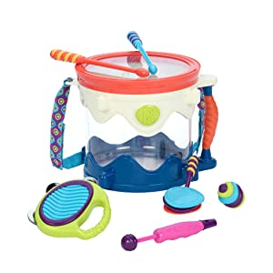 B. toys, Battat toys, drum, drum kit, toddler toys, instruments, music
