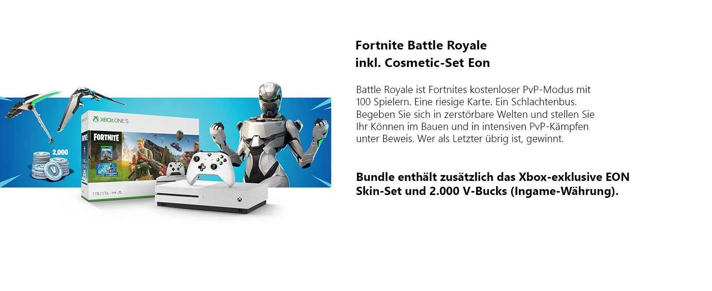 Xbox One S 1tb Weiss Fortnite Bundle Inkl Fortnite Battle