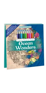 Adult Coloring Book With Colored Pencils