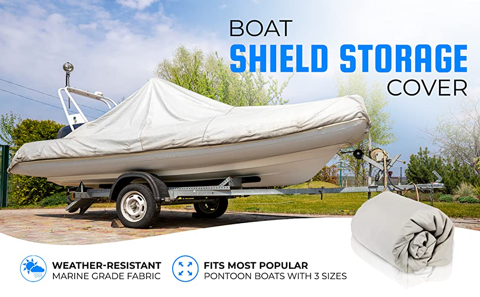 """Universal Boat Adjustable Storage Cover - 25'-28'L to 96"""" Pontoon Boats Protection Custom Heavy Duty"""