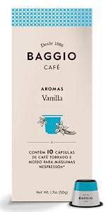 Vanilla Cápsulas Baggio Café Nespresso