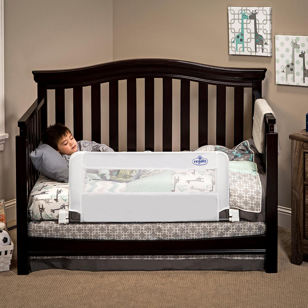 Regalo Swing Down Extra Long Convertible Crib Toddler Bed ...