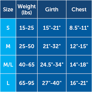 sizing chart easy walk harness no pull solution