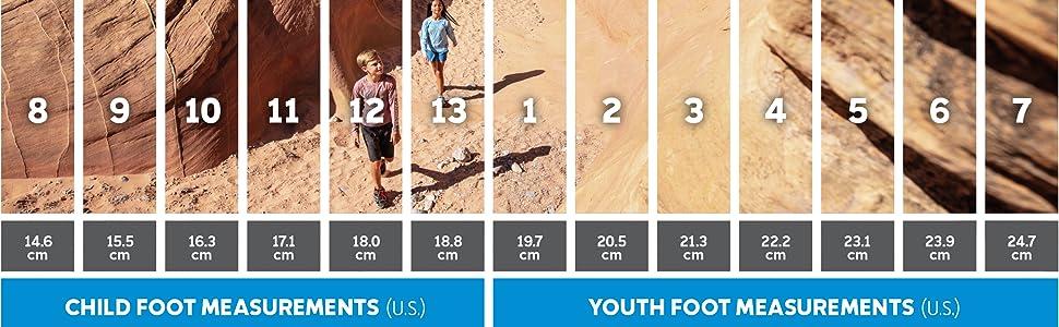 Youth shoe sizing