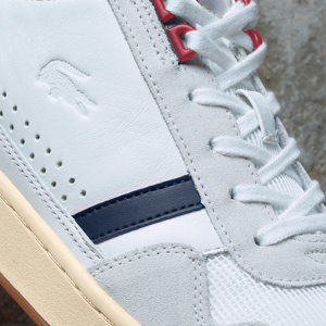 Sneaker Lacoste in pelle traforata