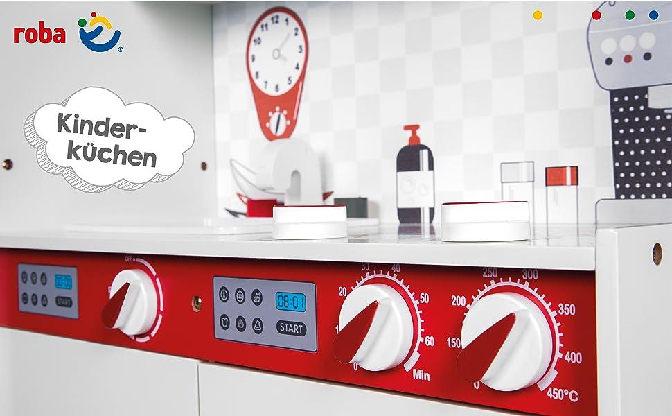12/'/'Kinderküche Spielküche Kinderspielküche Spielzeugküche Küche für Mädchen Rot