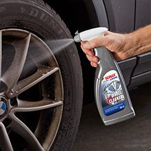 wheel rim mag brush sponge bristle washable cleaner scrub brake dust road dirt grime remove tar