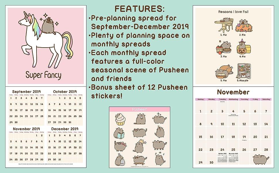 Pusheen 2020 Wall Calendar: Claire Belton: 0050837425224 ...