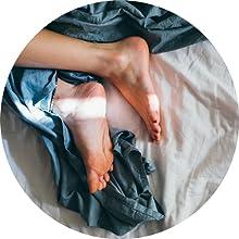 Ajustement parfait avec pieds vivants