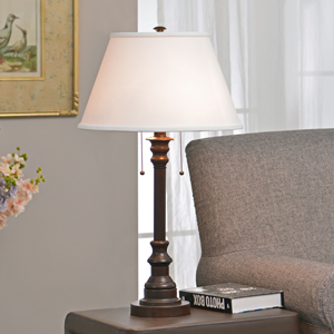 Kenroy Home Floor Lamp With Bronze Finish Dual On Off