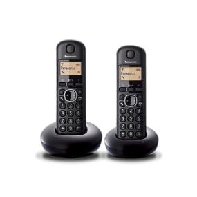 Panasonic KX-TGB212SPB - Teléfono fijo digital (DECT Dúo, función alarma/despertador, 6 melodías de timbre, Identificación de llamada entrante), Negro, TGB21 Duo: Amazon.es: Electrónica